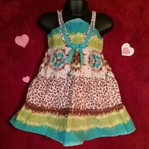 Other - B0GO  FREE ❤Girls MULTICOLORED DRESS SIZE 4t